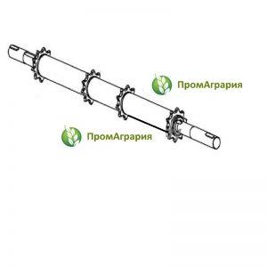 Вал верхний наклонной камеры КЗК-12-1803300 / Вал верхний наклонной камеры КЗК-12-1813000
